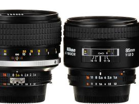 Perku Nikon Ais, Mf, Af, Afs objektyvus