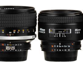Perku Nikon Ais, Mf, Af, Afs ir Fuji Xf objektyvus