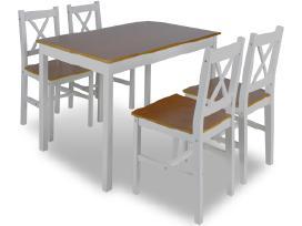 Medinis Stalas ir 4 Medinės Kėdės 240884 vidaxl - nuotraukos Nr. 2