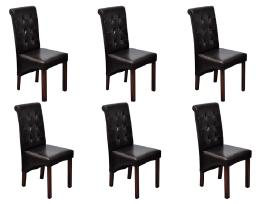 6 Valgomojo Kėdės, Rudos, vidaxl