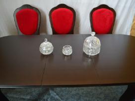 Naujas klasikinis prailginamas stalas ir 8 kėdės