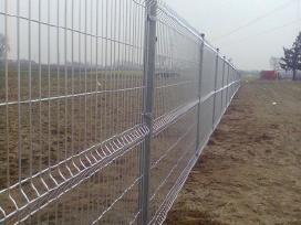 Segmentinės tvoros. Tinklinės tvoros montavimas.