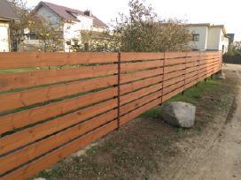 Tvoros segmentinės , medinės , metalinės , tinklas