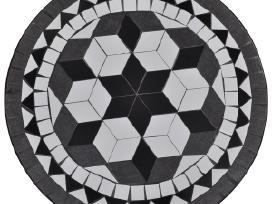 Stalas 60 cm, Juodos/baltos Spalvos Mozaika,vidaxl