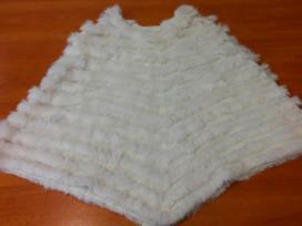 Pončo - skraistė dekoruota natūraliu kailiuku