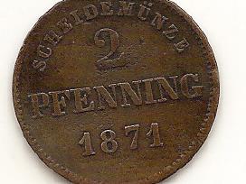 Bavarija 2 pfennige 1871#472