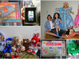 Lėlės(barbės), pliušiniai žaislai, žaidimai ir kt.
