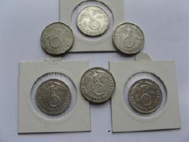 1937-38-39m. 2 markes,vokietija su svastika