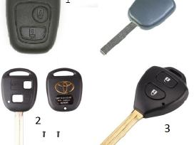 Audi raktas A1 A2 A3 A4 A5 A6 A7 A8 TT Q7 korpusai - nuotraukos Nr. 7
