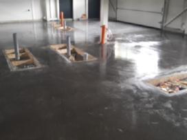 Pramoninės grindys, smėlbetonio grindų betonavimas