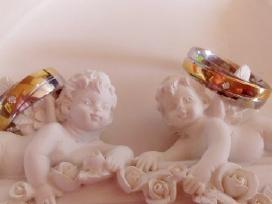 N3 vestuvinis titano ziedas,pildytas 24k auksu
