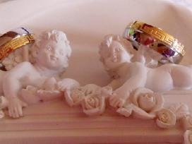 N5-titano vestuvinis ziedas,pildytas 24 K auksu