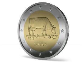 """Latvija 2 euro 2016 """"Karvutė"""" Bu"""