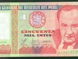Peru 50000 Intis 1988m. P142 Unc
