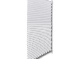 Plisuotos Žaliuzės, 70 x 125 cm, Baltos, vidaxl