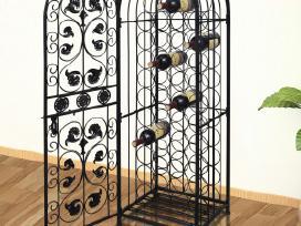 Metalinis Stovas 45 Vyno Buteliams, vidaxl