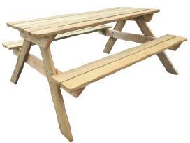 Medinis pikniko stalas 41725 vidaxl
