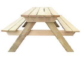 Medinis pikniko stalas, 150 x 135 x 71,5cm, vidaxl
