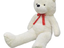 Minkštas baltas pliušinis meškinas, 150 cm, vidaxl