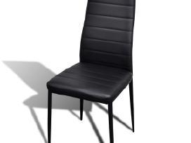 6 Grakščių Linijų Valgomojo Kėdės, Juodos, vidaxl