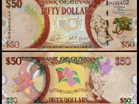 Gajana 50 Dollars 2016m. Unc Proginė
