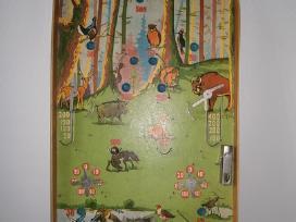 Senovinis vaikų stalo žaidimas pinball(biliardas)