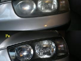 Auto žibintu-lempu kėbulo poliravimas Palangoje
