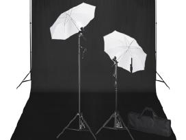 Rinkinys Fotostudijai: Fonas 600x300 ir Šviestuvai