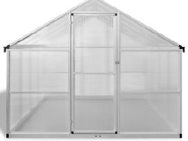 Šiltnamis iš Aliuminio su Pagrindo Rėmu 9,025 m2
