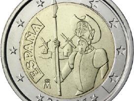 Ispanija 2 euro monetos Unc