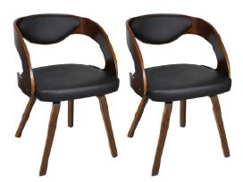 2 Valgomojo Kėdžių Mediniu Rėmu Komplektas, vidaxl
