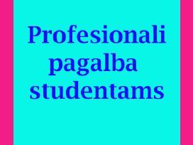 Patikima pagalba studentams: atsiliepimai viduje.