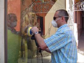 Stiklo šlifavimas, poliravimas, įbrėžimų šalinimas
