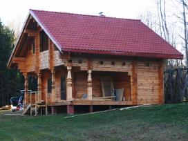 Rąstiniai, karkasiniai namai, pirtys, stogai