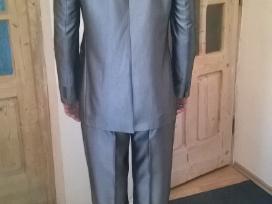 Vyriškas kostiumas sidabrinis pilkas. Ugis 1.94 - nuotraukos Nr. 3