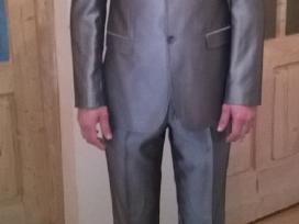 Vyriškas kostiumas sidabrinis pilkas. Ugis 1.94