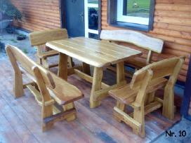 Lauko baldai mediniai  klasikinis komple