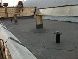 Plokščių stogų dengimas prilydoma danga - nuotraukos Nr. 6