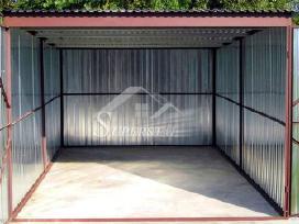 Cinkuotas skardinis garažas - nuotraukos Nr. 3