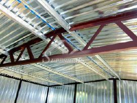 Didesnių garažų stogo konstrukcija