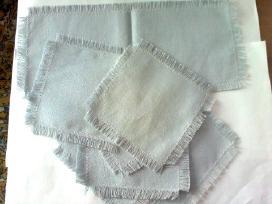 Dangaus spalvos lininis servetėlių komplektas
