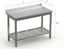 Nerūdijančio Plieno Stalai pagal poreikius - nuotraukos Nr. 2