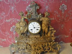 Antikvarinis židinio laikrodis 1858m