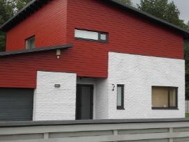 Mediniu namų ir tvoros dažymas - nuotraukos Nr. 4
