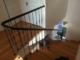 Laiptai, turėklai, stogeliai, vartai