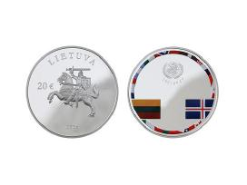 20 Eur - Nepriklausomybės įtvirtinimo 25-mečiui