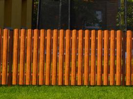 Skardinė tvora (šviesi medžio imitaci
