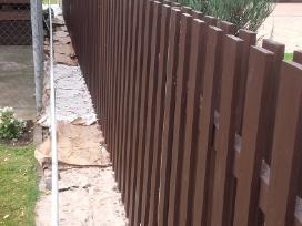 Mediniu namų ir tvoros dažymas - nuotraukos Nr. 3