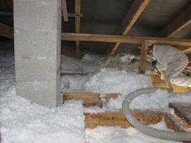 Stogų šiltinimas biria mineraline vata