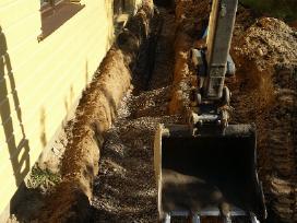 Lietaus kanalizacija,drenazas irengimas,bobcat